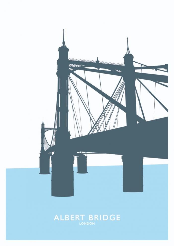 Place in Print Albert Bridge Travel Poster Art Print