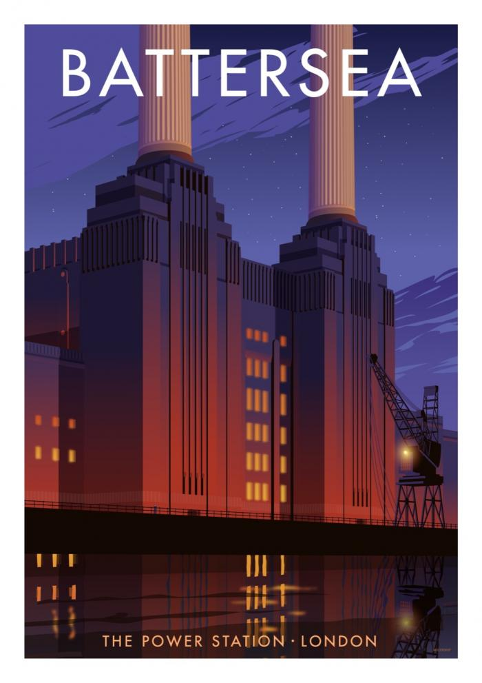 Place in Print Stephen Millership Battersea Power Station Travel Poster Travel Poster Art Print