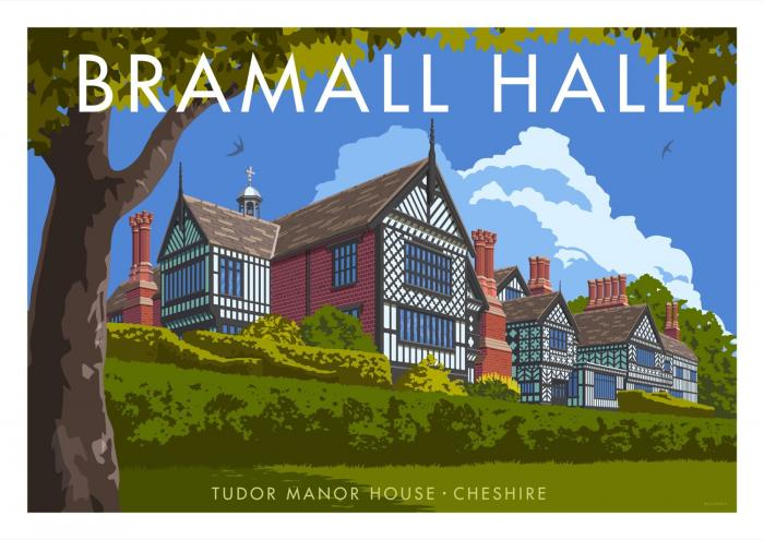 Place in Print Stephen Millership Bramall Hall Travel Poster Travel Poster Art Print