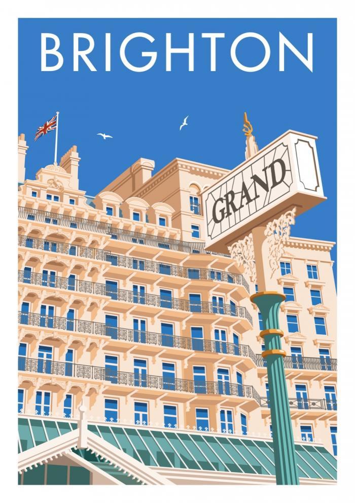 Place in Print Stephen Millership Brighton Grand Travel Poster Travel Poster Art Print