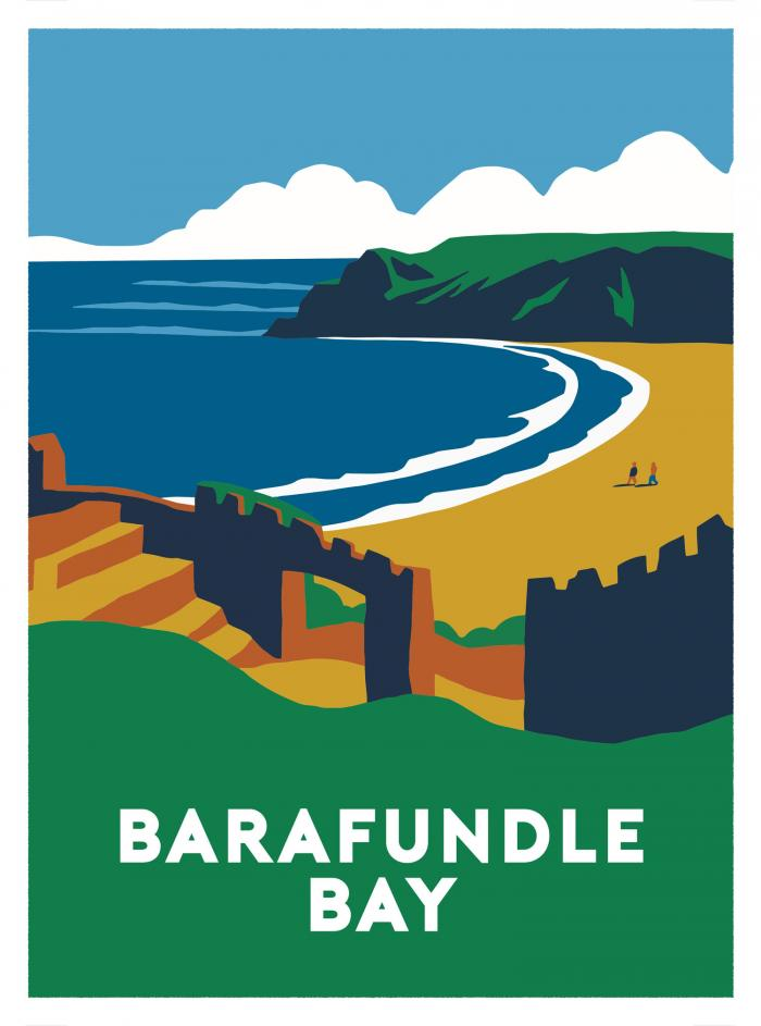 Place in Print Barafundle Bay Art Print