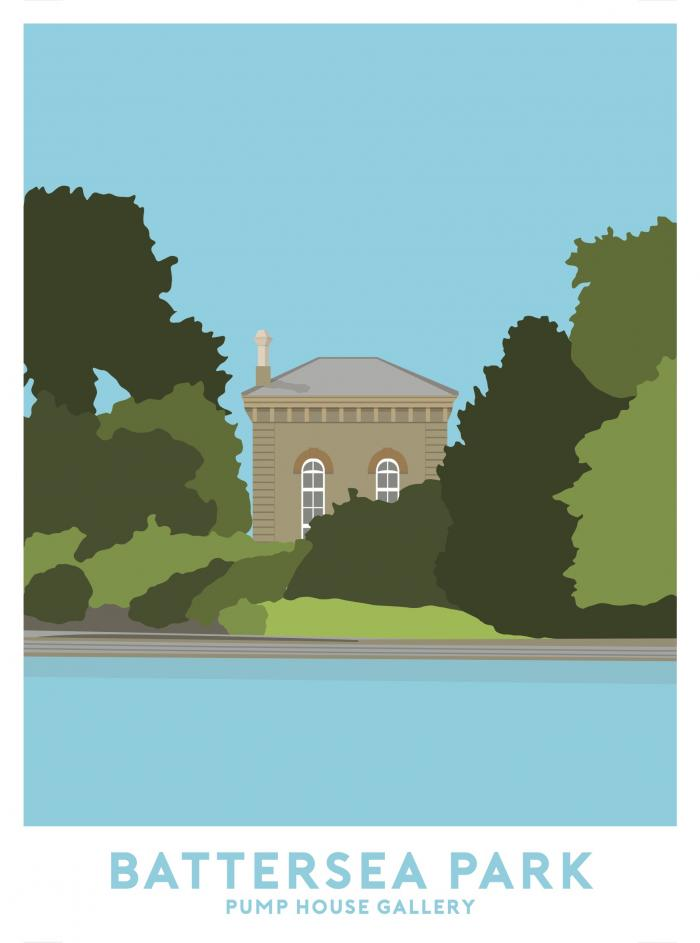 Place in Print Battersea Park Pump House Gallery Travel Poster Art Print