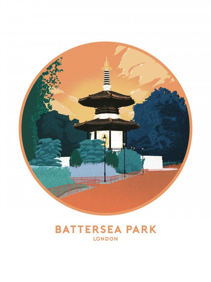 Place in Print Tom Camp Battersea Park Art Print
