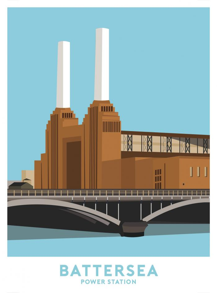 Place in Print Battersea Power Station Travel Poster Art Print