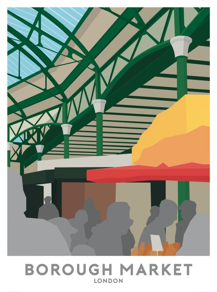 Place in Print Borough Market Travel Poster Art Print