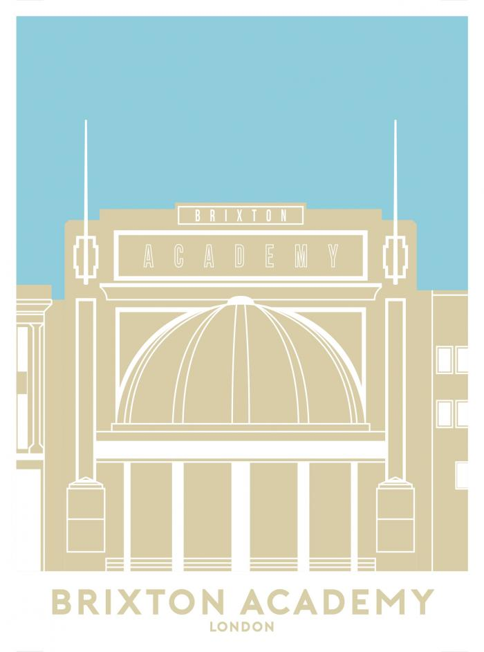 Place in Print Brixton Academy Outline Travel Poster Art Print