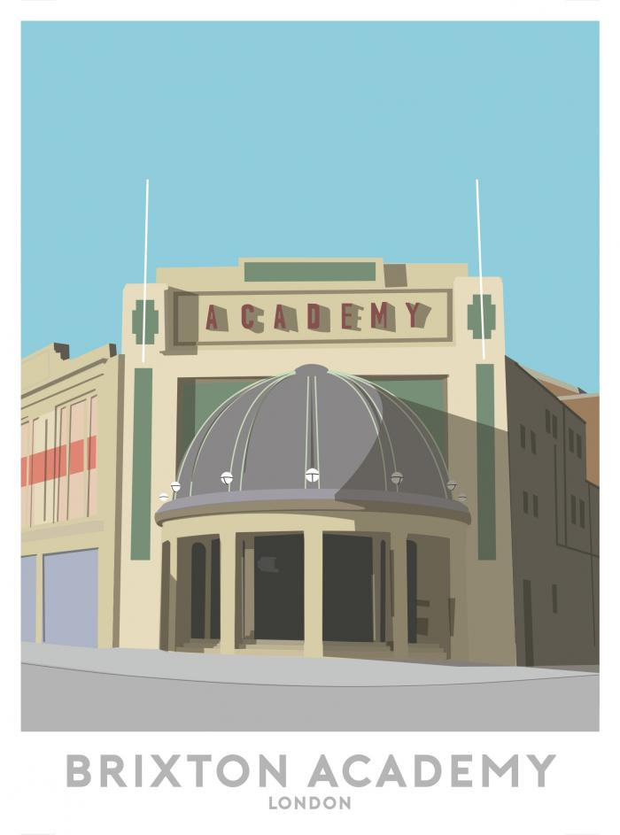 Place in Print Brixton Academy London Travel Poster Art Print