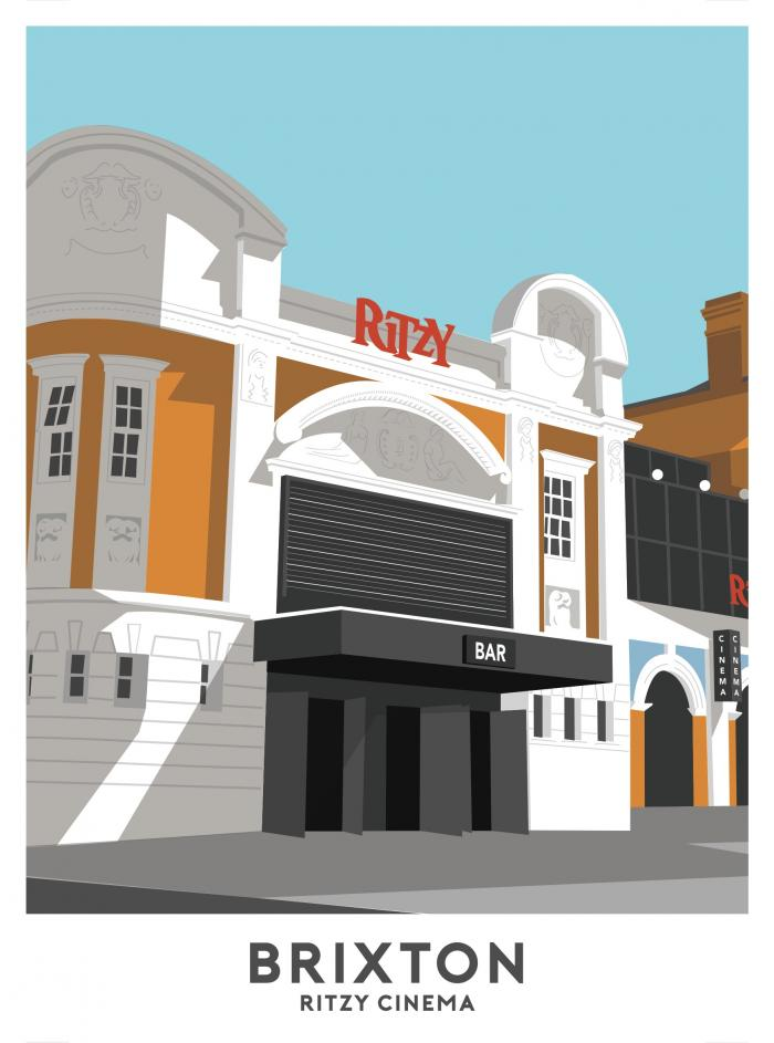 Place in Print The Ritzy Brixton Travel Poster Art Print