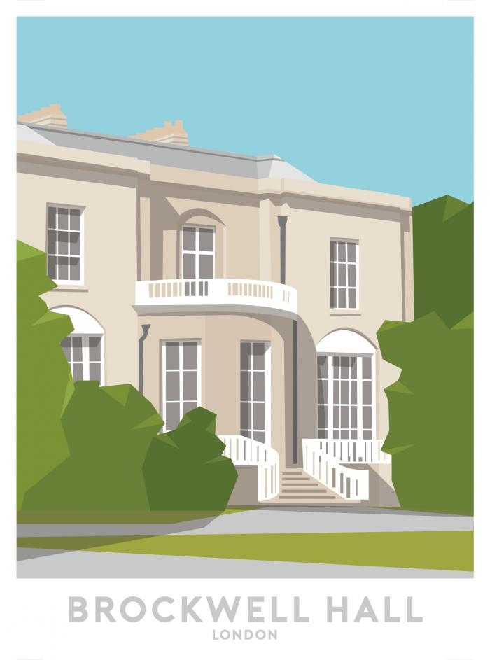 Place in Print Brockwell Hall Travel Poster Art Print