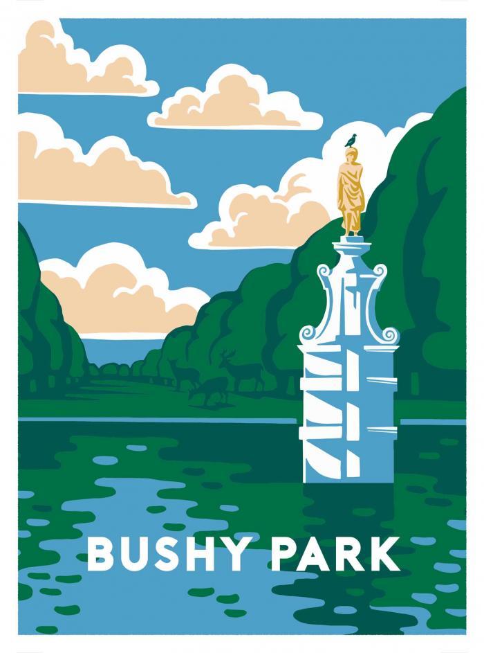 Place in Print Ginette Guiver Bushy Park Art Print