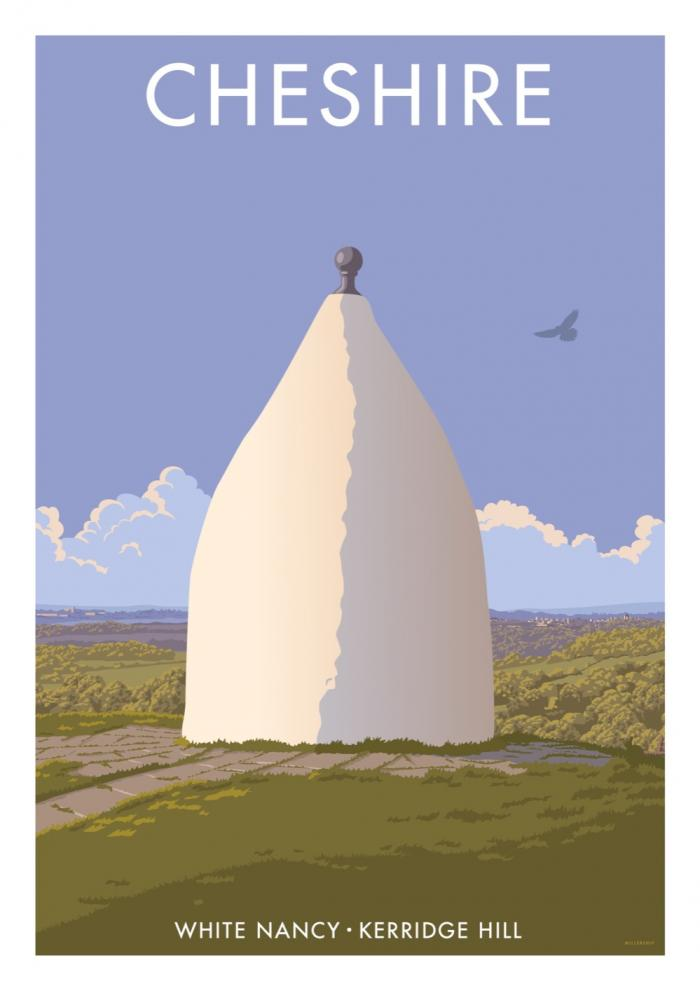 Place in Print Stephen Millership Cheshire White Nancy Travel Poster Travel Poster Art Print