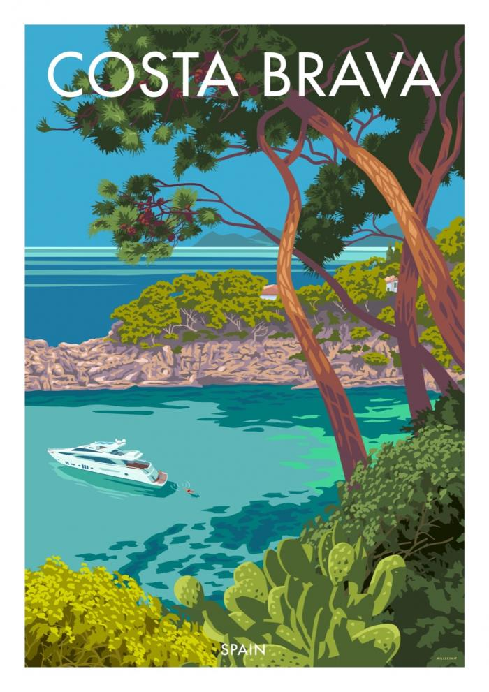 Place in Print Stephen Millership Costa Brava Spain Travel Poster Travel Poster Art Print