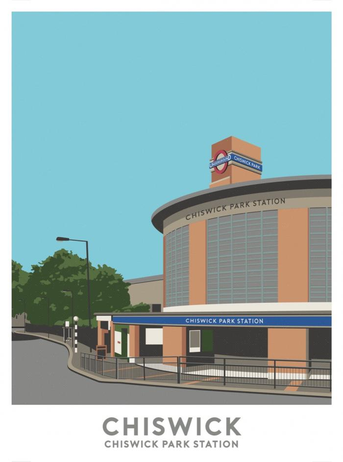 Place in Print Chiswick Park Station Travel Poster Art Print
