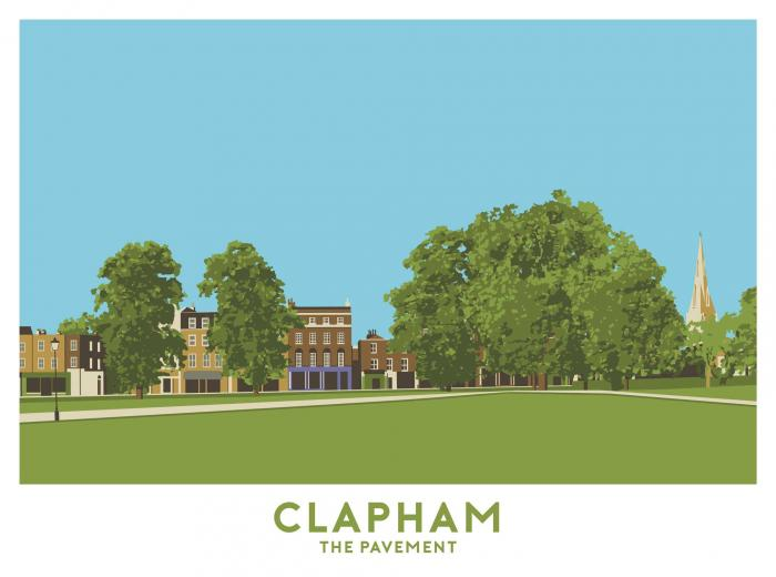 Place in Print The Pavement, Clapham Travel Poster Art Print