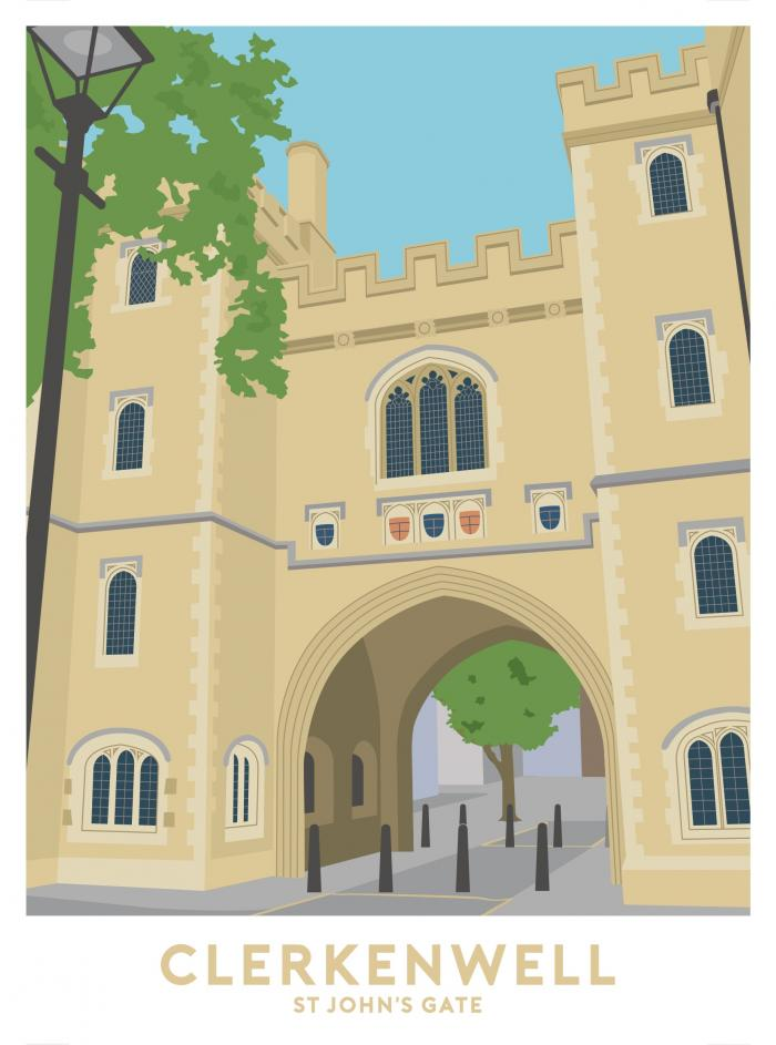 Place in Print St John's Gate Travel Poster Art Print