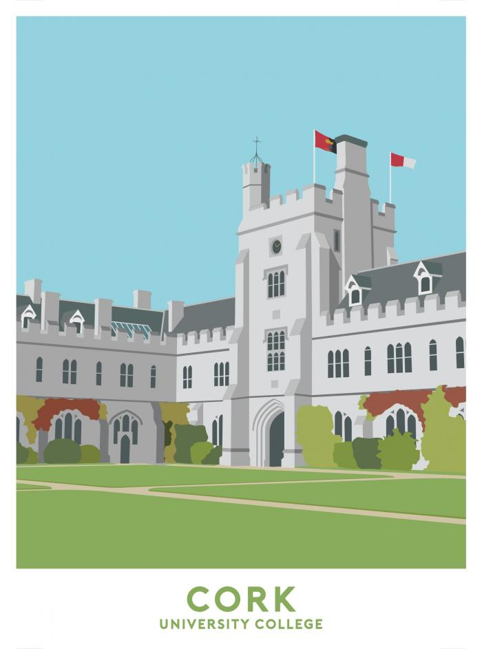 Place in Print University College Cork Travel Poster Art Print