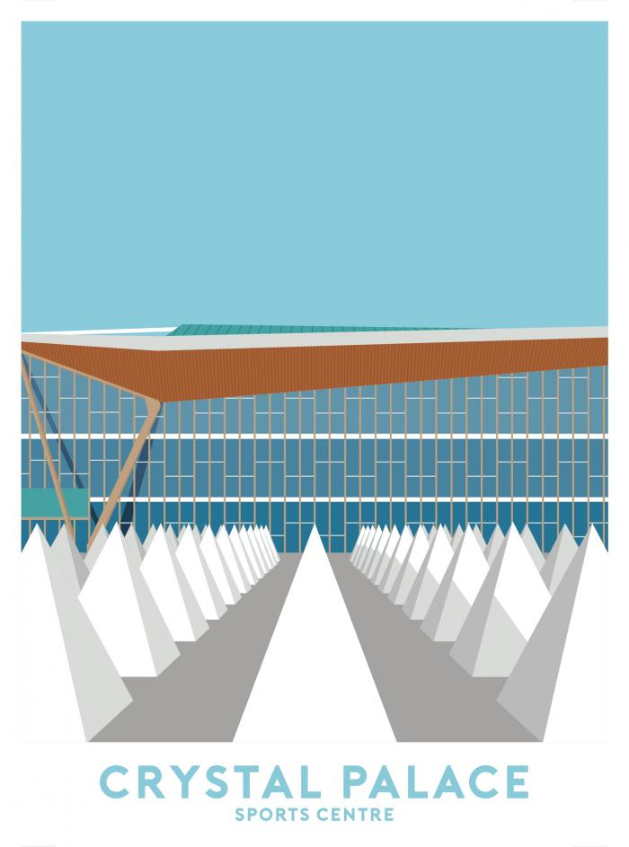 Place in Print Crystal Palace Sports Centre Travel Poster Art Print