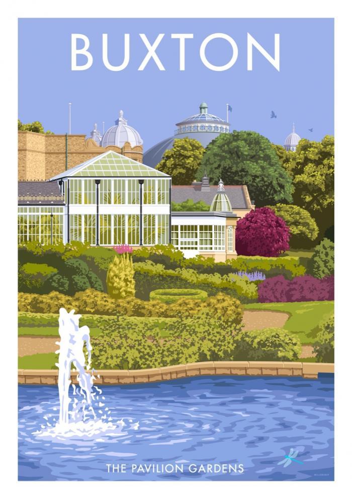 Place in Print Stephen Millership Buxton Pavilion Gardens Travel Poster Travel Poster Art Print