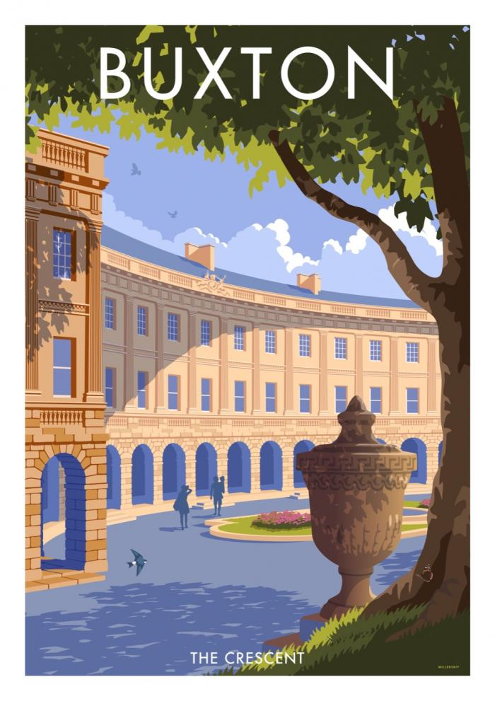 Place in Print Stephen Millership Buxton The Crescent Travel Poster Travel Poster Art Print