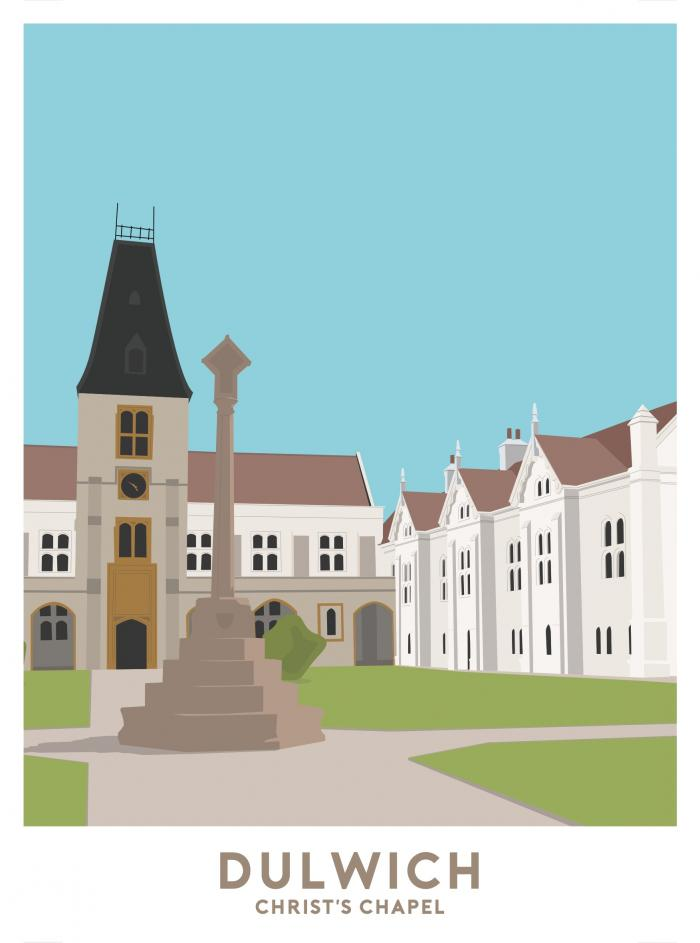 Place in Print Christ's Chapel Dulwich Travel Poster Art Print