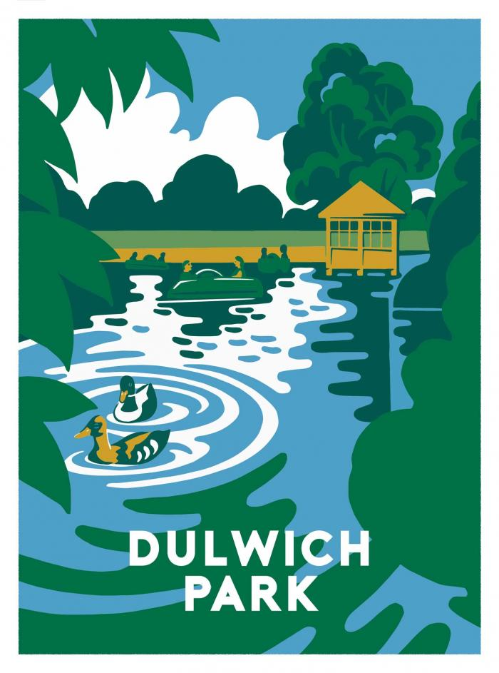 Place in Print Ginette Guiver Dulwich Park Art Print