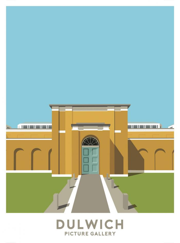 Place in Print Dulwich Picture Gallery Travel Poster Art Print