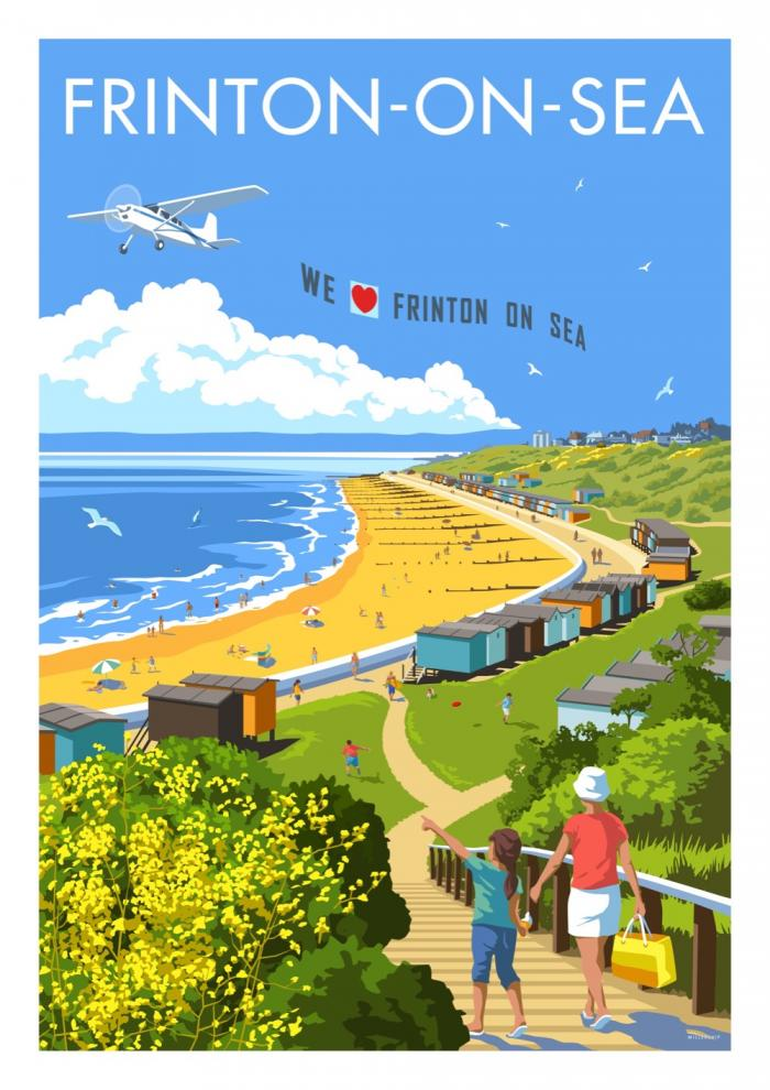 Place in Print Stephen Millership Frinton-on-Sea Travel Poster Travel Poster Art Print