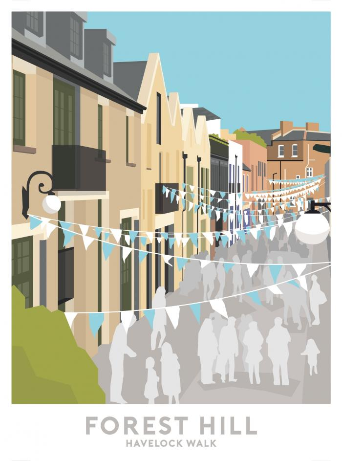 Place in Print Havelock Walk Travel Poster Art Print