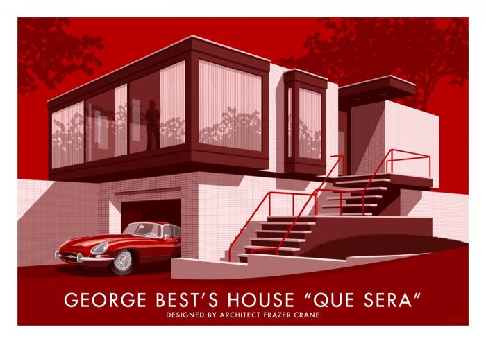 Place in Print Stephen Millership George Bests House Que Sera Travel Poster Travel Poster Art Print