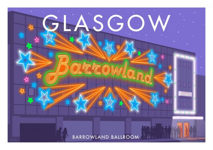 Place in Print Stephen Millership Glasgow Barrowland Ballroom Travel Poster Travel Poster Art Print