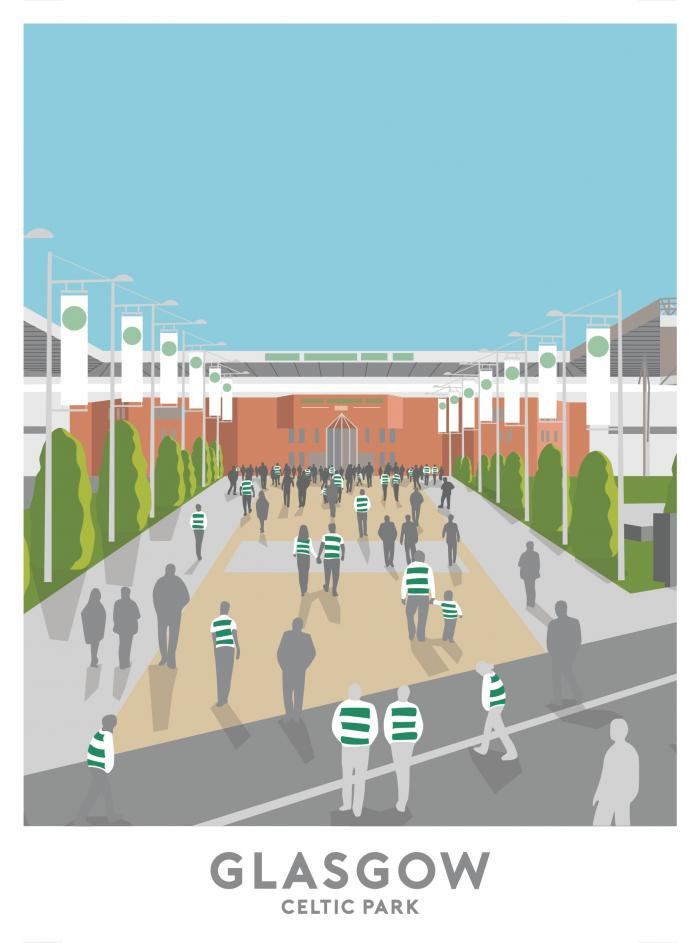 Place in Print Celtic Park Glasgow Travel Poster Art Print