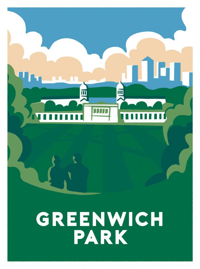 Place in Print Ginette Guiver Greenwich Park Art Print