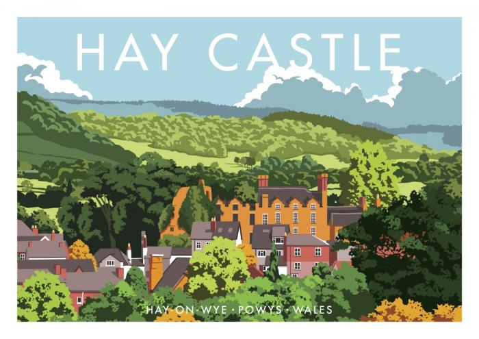 Place in Print Stephen Millership Hay Castle Powys Travel Poster Travel Poster Art Print