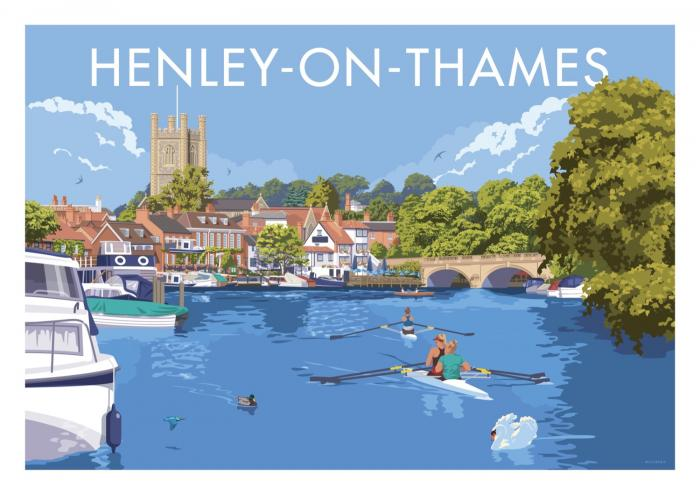 Place in Print Stephen Millership Henley-on-Thames Travel Poster Travel Poster Art Print