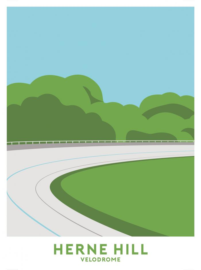 Place in Print Herne Hill Velodrome Travel Poster Art Print