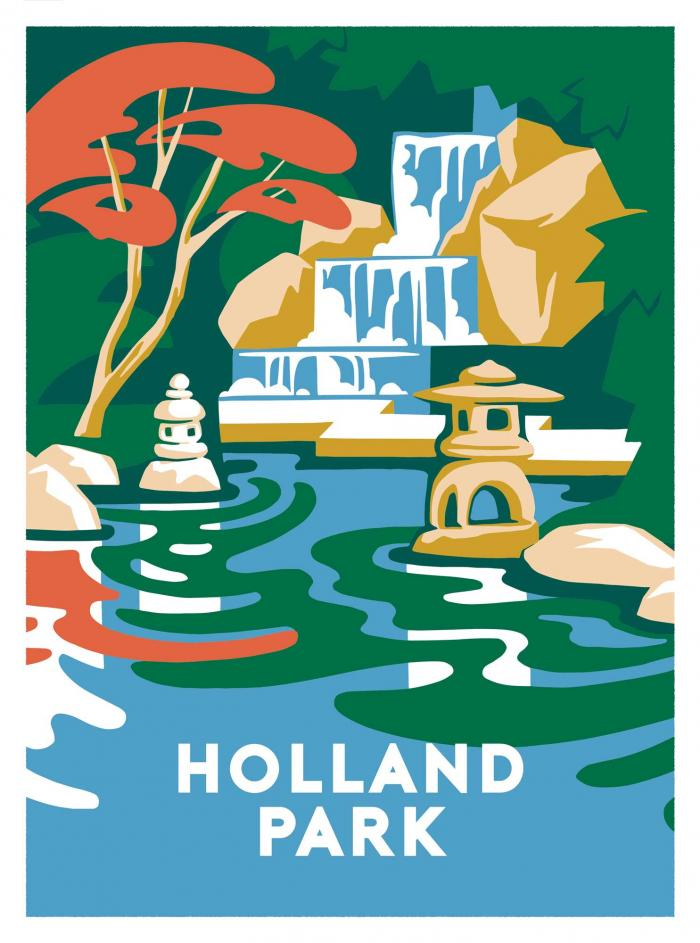 Place in Print Ginette Guiver Holland Park Art Print