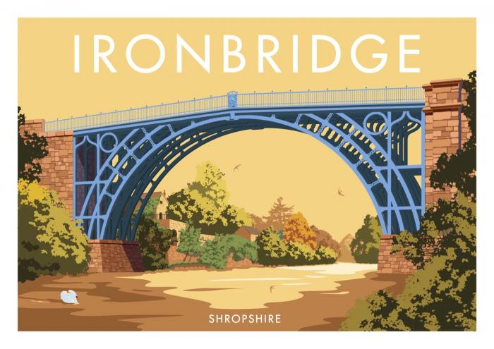 Place in Print Stephen Millership Ironbridge Shropshire Travel Poster Travel Poster Art Print