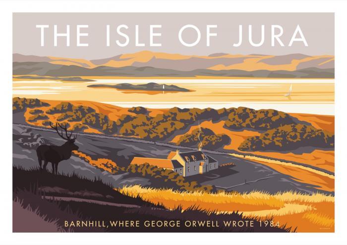 Place in Print Stephen Millership Isle of Jura Barnhill Travel Poster Travel Poster Art Print