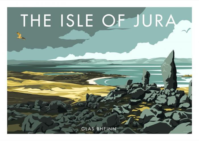 Place in Print Stephen Millership Isle of Jura Glas Bheinn Travel Poster Travel Poster Art Print