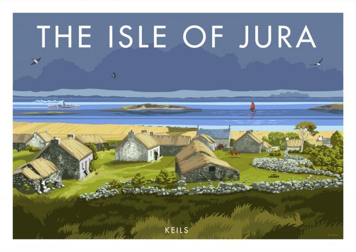 Place in Print Stephen Millership Isle of Jura Keils Travel Poster Travel Poster Art Print