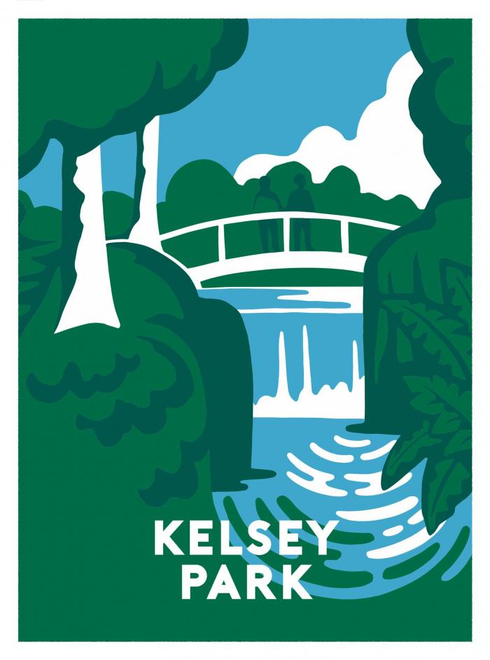 Place in Print Ginette Guiver Kelsey Park Art Print