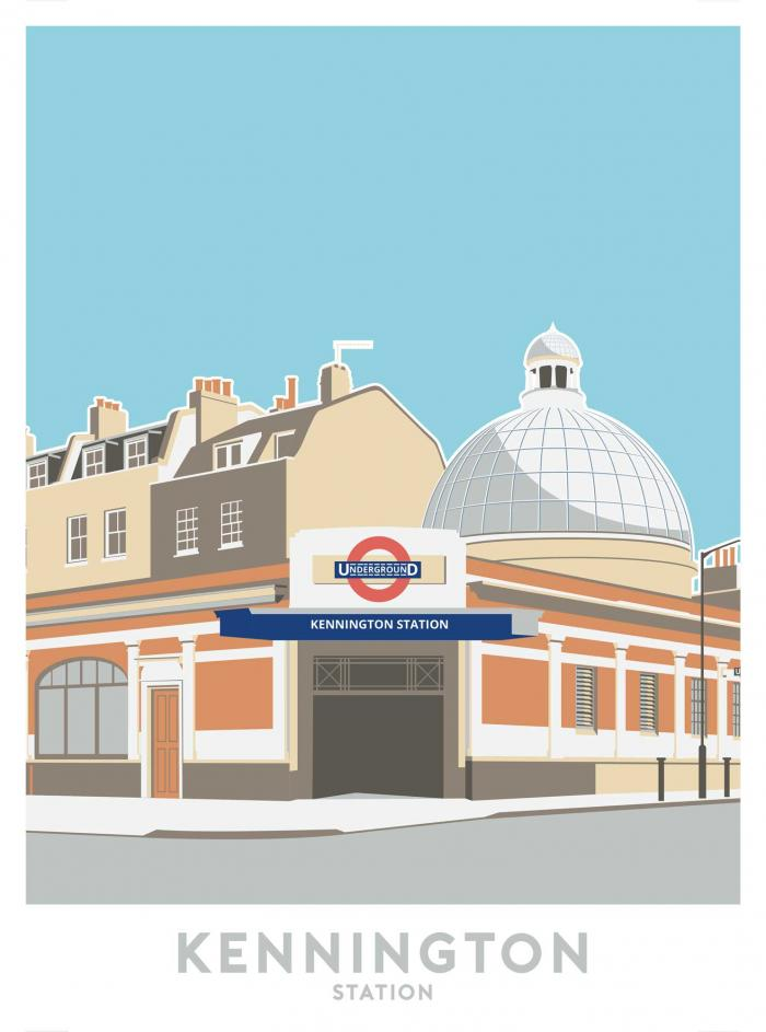 Place in Print Kennington Station Travel Poster Art Print
