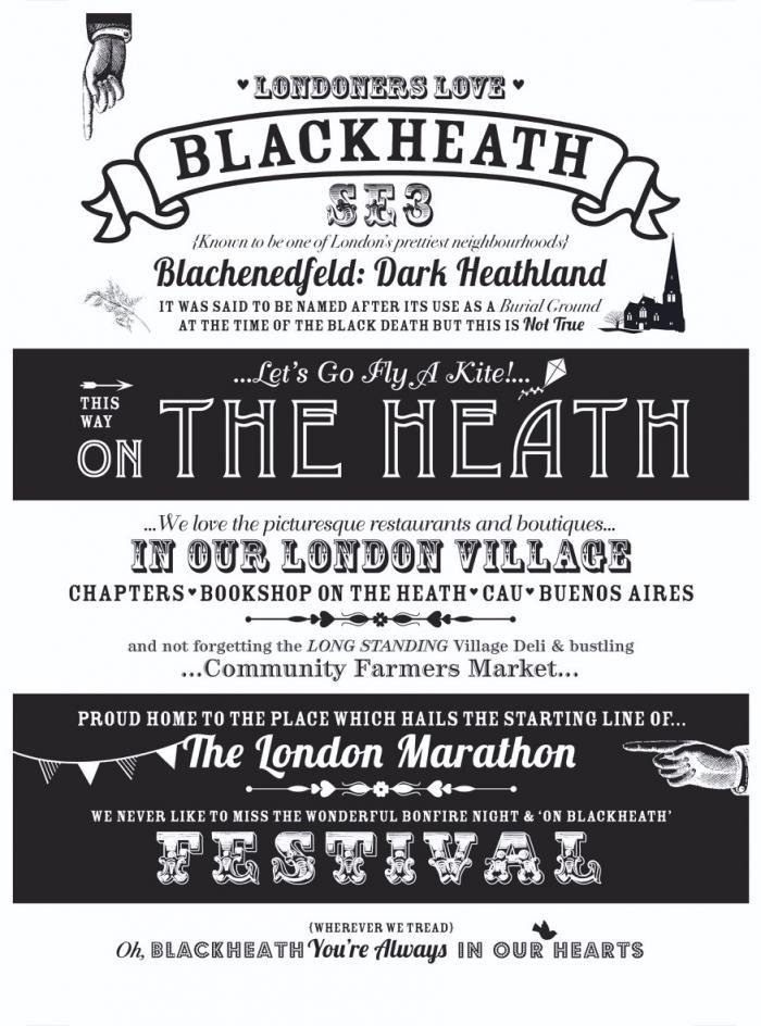 Place in Print Octavia Plum Blackheath Love Where You Live Art Print