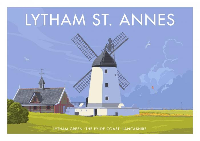Place in Print Stephen Millership Lytham St Annes Travel Poster Travel Poster Art Print