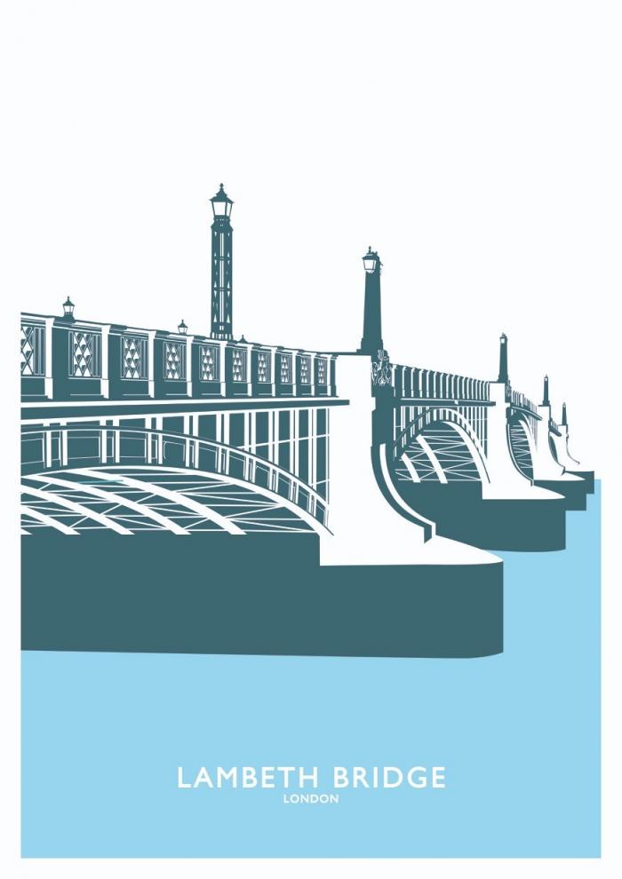 Place in Print Lambeth Bridge Travel Poster Art Print