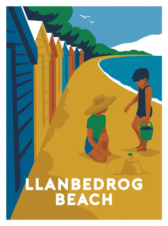 Place in Print Llanbedrog Beach Art Print