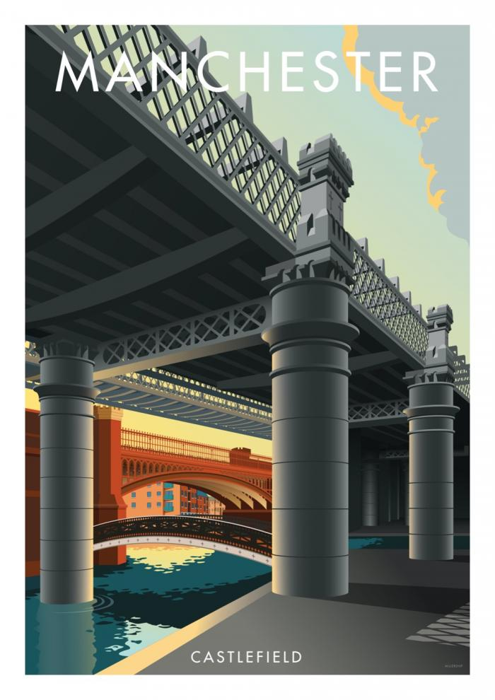 Place in Print Stephen Millership Manchester Castlefield Travel Poster Travel Poster Art Print