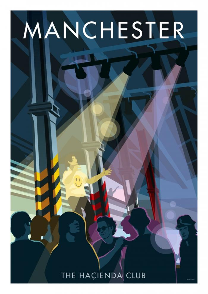 Place in Print Stephen Millership Manchester Hacienda Club Travel Poster Travel Poster Art Print