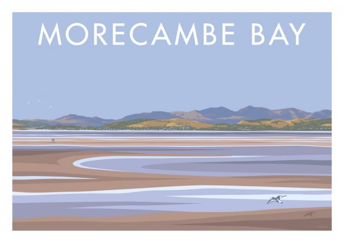 Place in Print Stephen Millership Morecambe Bay Travel Poster Travel Poster Art Print
