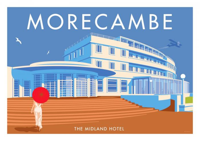 Place in Print Stephen Millership Morecambe Midland Hotel Travel Poster Travel Poster Art Print